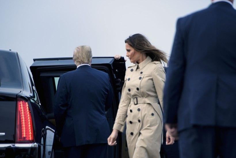 FOTOD | Trump saabus koos abikaasaga Brüsselisse