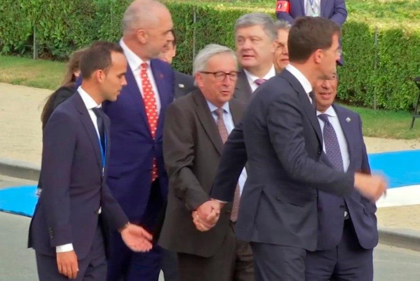 VIDEO | Kas Jean-Claude Juncker oli NATO tippkohtumisel purjus?