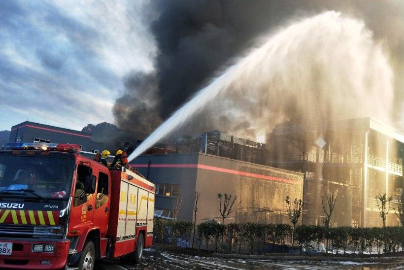 Hiina keemiatehases toimus plahvatus, hukkus vähemalt 19 inimest
