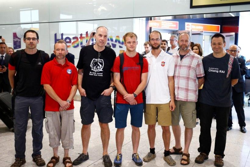 VIDEO JA FOTOD | Briti kangelassukeldujad jõudsid koju tagasi ning andsid pressikonverentsi