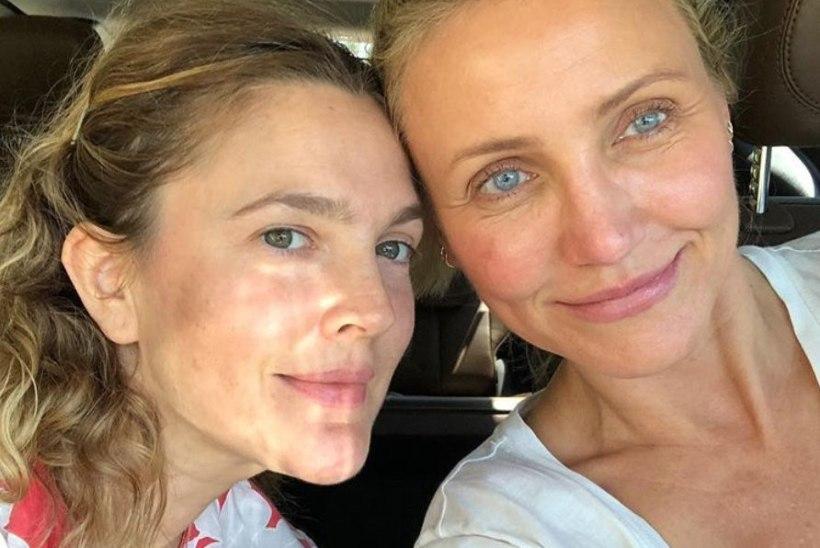 FOTO | Loomulik ja ilus! Cameron Diaz ja Drew Barrymore näitavad meigivabat palet