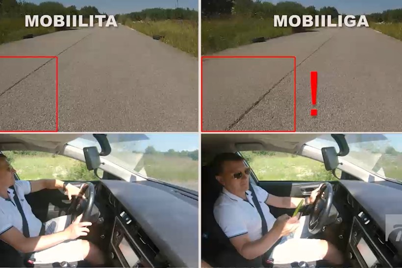 ÕL VIDEO | KATSE: kas nutitelefoni näppimine segab autojuhi tähelepanu?