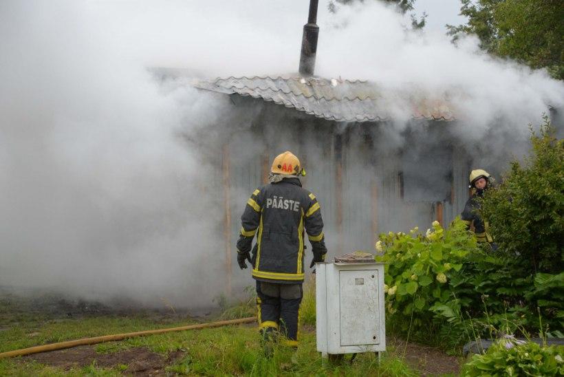 VIDEO JA FOTOD | Viljandimaal lõõmas varahommikul suvila