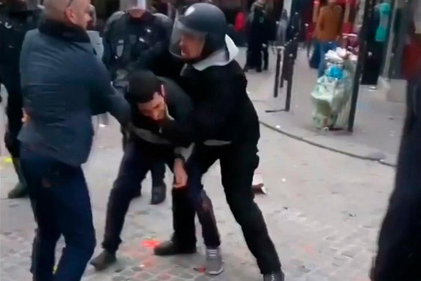 Macron vallandas meeleavaldajaga vägivallatsenud turvanõuniku