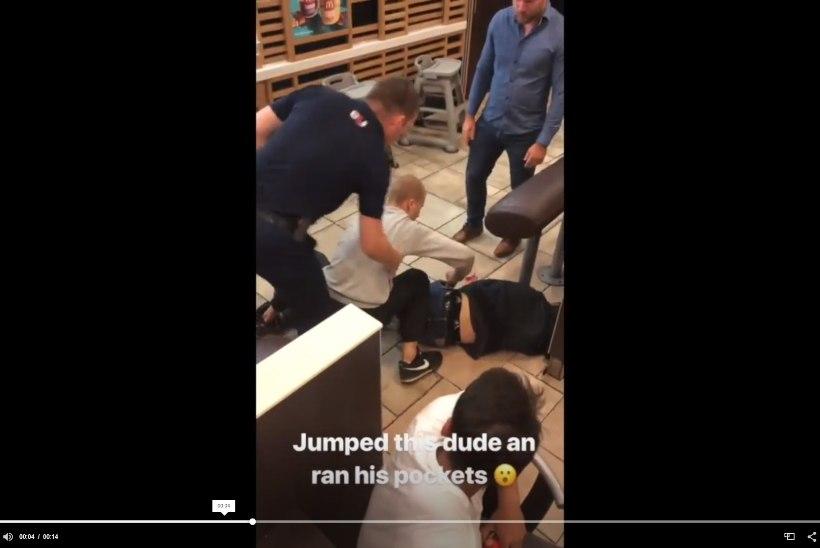 Kaklus pealinna McDonald'sis: politsei sai ründajad kätte