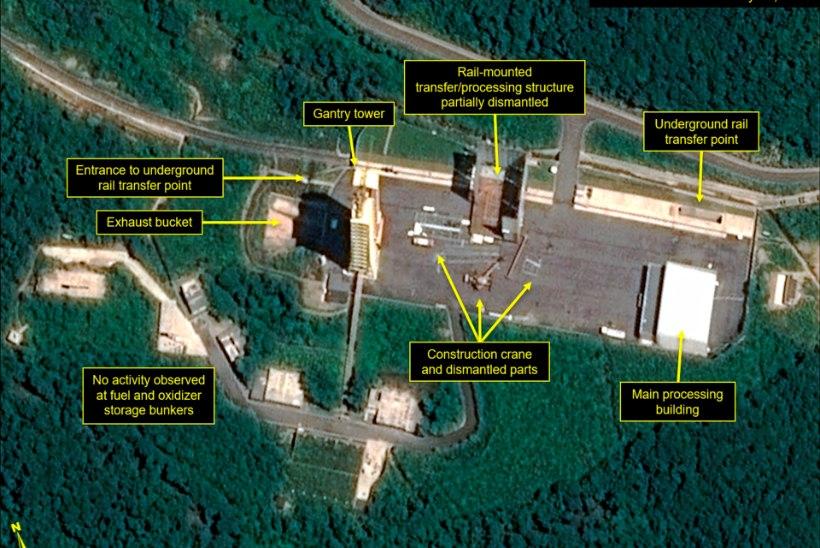 Põhja-Korea on teinud algust Sohae kosmodroomi hävitamisega