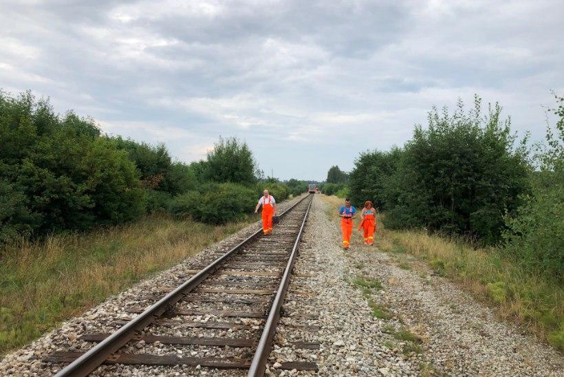 GALERII   Raplamaal hukkus rongi alla jäänud inimene