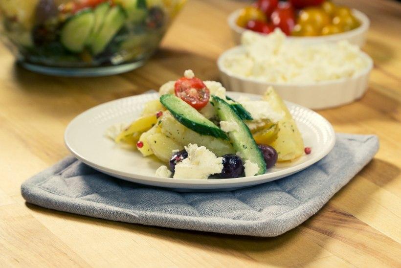 SELVERIGA KÖÖGIS   Kreekapärane värske kartuli-fetasalat