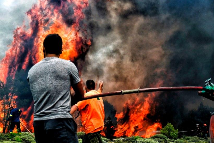 VIDEO│Lennukiaknast vaadates sarnaneb Kreeka põrguga