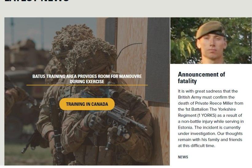 Eestis hukkus Briti sõdur