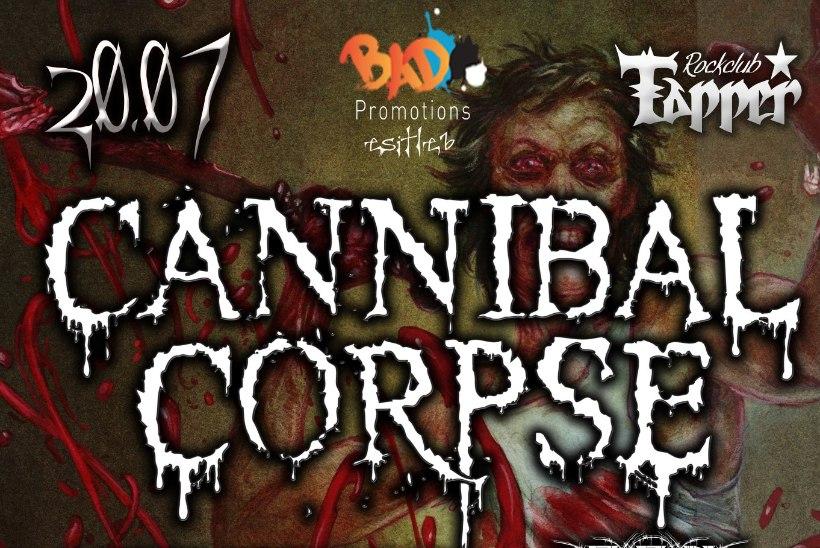 Maailma skandaalseim ning kuulsaim death metal'i bänd Cannibal Corpse esineb Eestis
