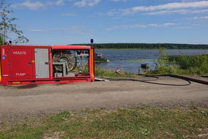 GALERII JA VIDEOD | Narva-Jõesuus põleb taas mets, päästeamet palub voolikuliini autoga mitte ületada