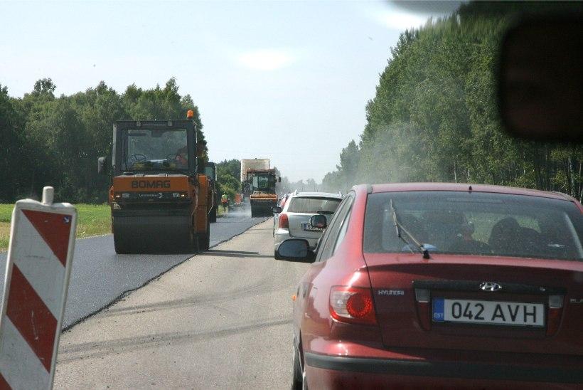 Teetööd piiravad enim liiklust Lõuna-Eestis
