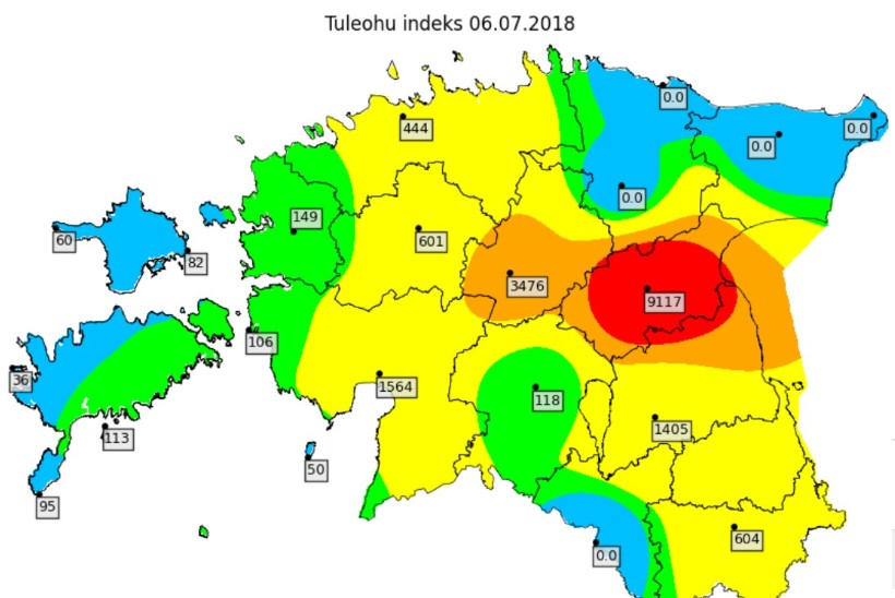 Päästeamet: Jõgevamaa on endiselt suure tuleohuga piirkond