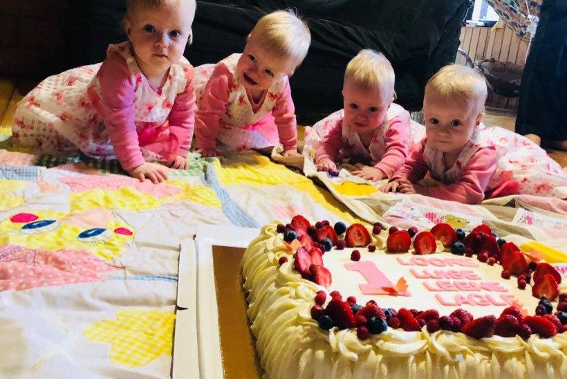 NUNNUMEETER PÕHJA: nelikud Loore, Luise, Leene ja Lagle tähistasid esimest sünnipäeva!