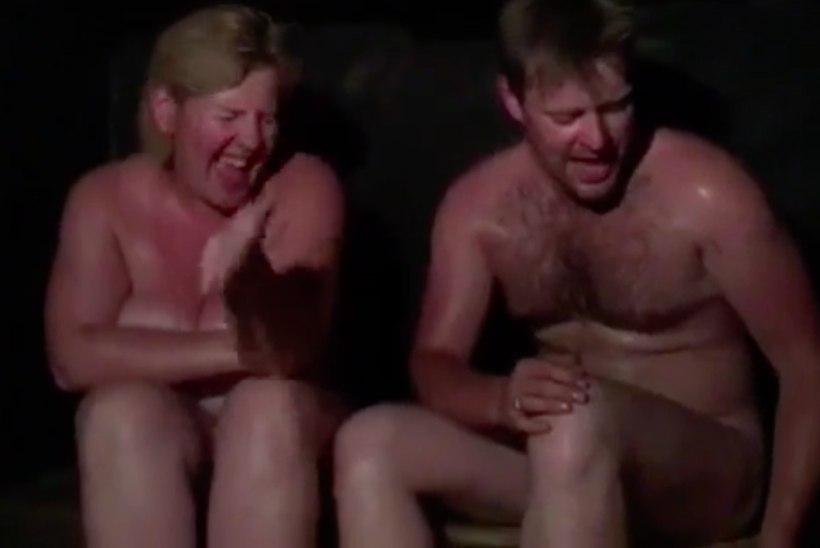 VIDEO | ÄRA SEDA TÖÖL VAATA! Kaire Vilgats ja Kalle Sepp heitsid riided seljast ja lõõritasid saunalaval