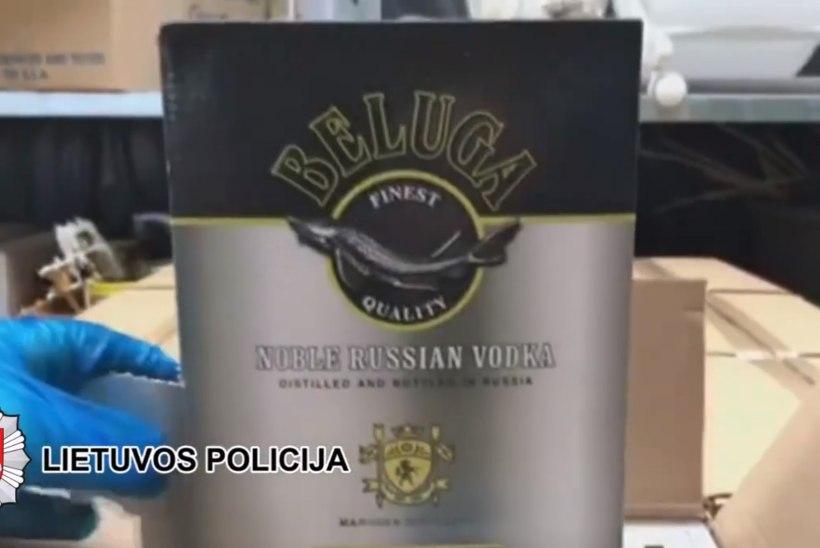 VIDEO   Leedu politsei tabas salaviinatootjate võrgustiku