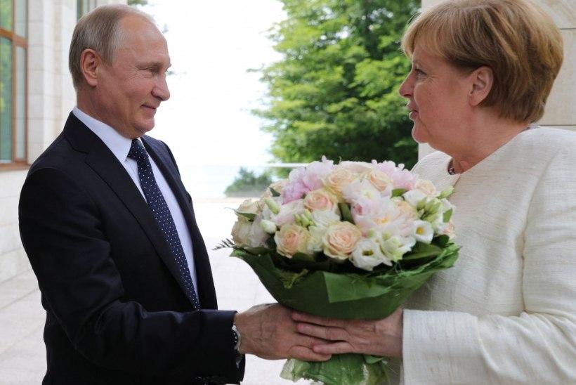 DIPLOMAATILINE TULEVÄRK: Angela Merkel võtab laupäeval vastu Vladimir Putini