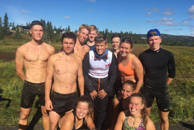 Eesti suusanoored ammutavad Norra imelapselt treeningnippe