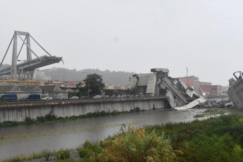 FOTOD JA VIDEO | Itaalias Genovas varises kokku maanteesild, hukkunuid vähemalt 35