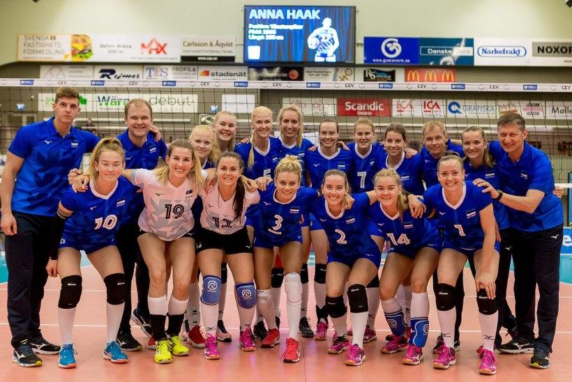 Naiste võrkpallikoondis avas EM-valiksarjas võiduarve!