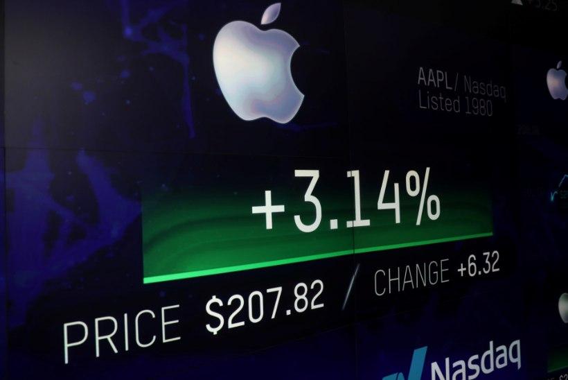 Apple'i väärtus jõudis 1 000 000 000 000 USA dollarini
