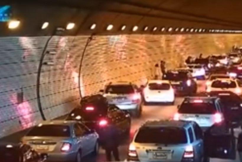 VIDEO | ÕPIME LIIKLUSKULTUURIST: vaata, kuidas Lõuna-Korea autojuhid tunnelis tekkinud ummikut likvideerivad