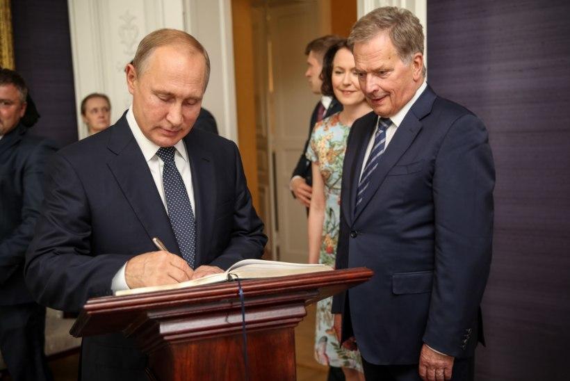 TIHE SUHTLUS: Sauli Niinistöl ja Vladimir Putinil seisab ees juba 12. kohtumine