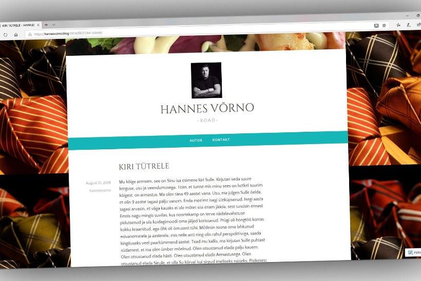 Hannes Võrno tunnistab blogis, et tal on lisaks poegadele ka seniteadmata tütar?
