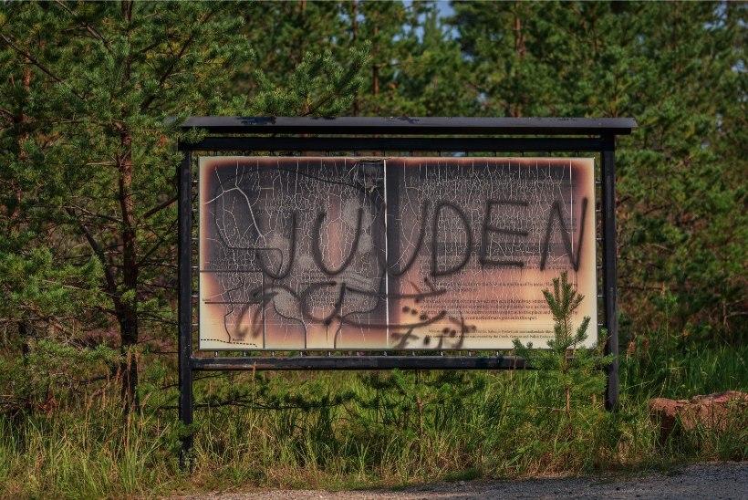 GALERII | Kalevi-Liival rüüstati holokaustiohvrite memoriaali