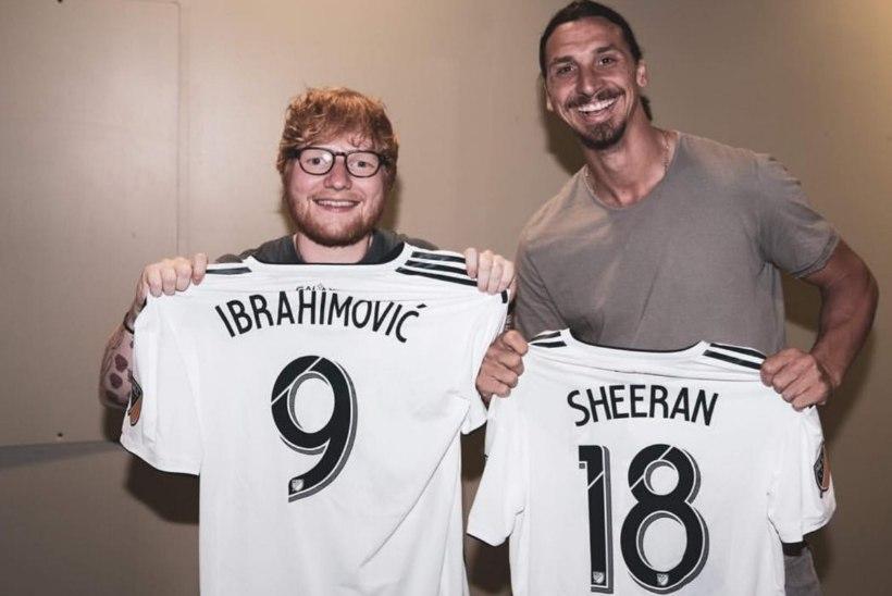 ZLATAN TEEB, MIS TAHAB! Ibra jättis LA mängule minemata, sest tahtis Ed Sheeraniga kohtuda?