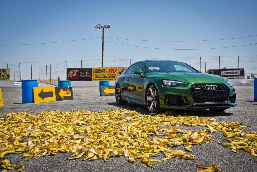 EKSPERIMENT: kas banaanikoored pühivad auto teelt nagu videomängus?