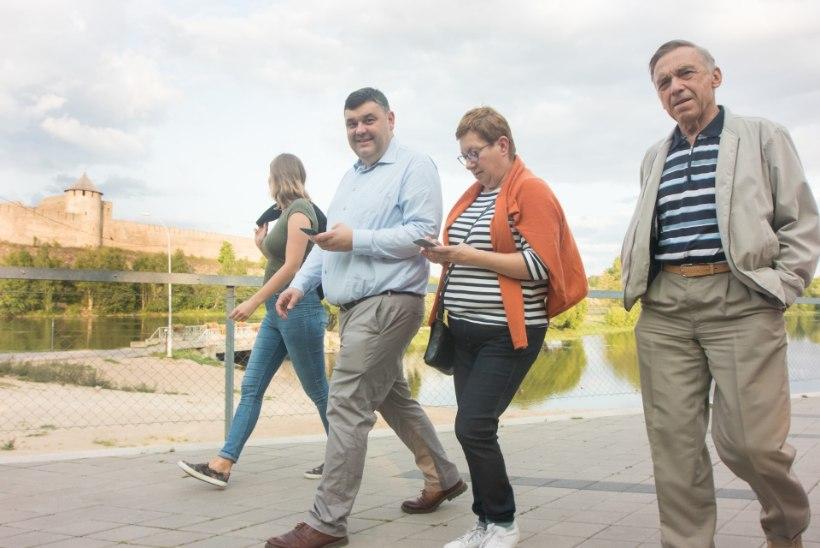 GALERII | SPORTLIK EESKUJU! President suundus Narvas rattamatkale