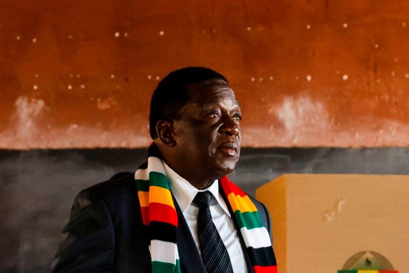 Zimbabwe valimised võitis napilt praegune riigipea