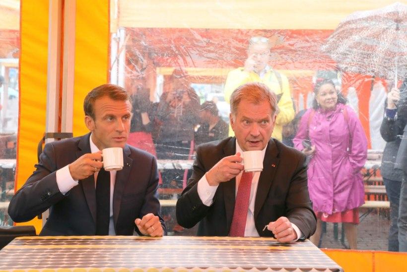 Macroni ja Niinistö kohvipaus tekitas Twitteris elevust