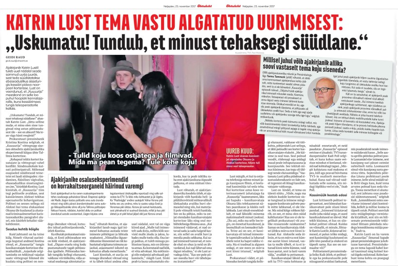 Prokuratuur läheb Katrin Lusti vastu kohtusse