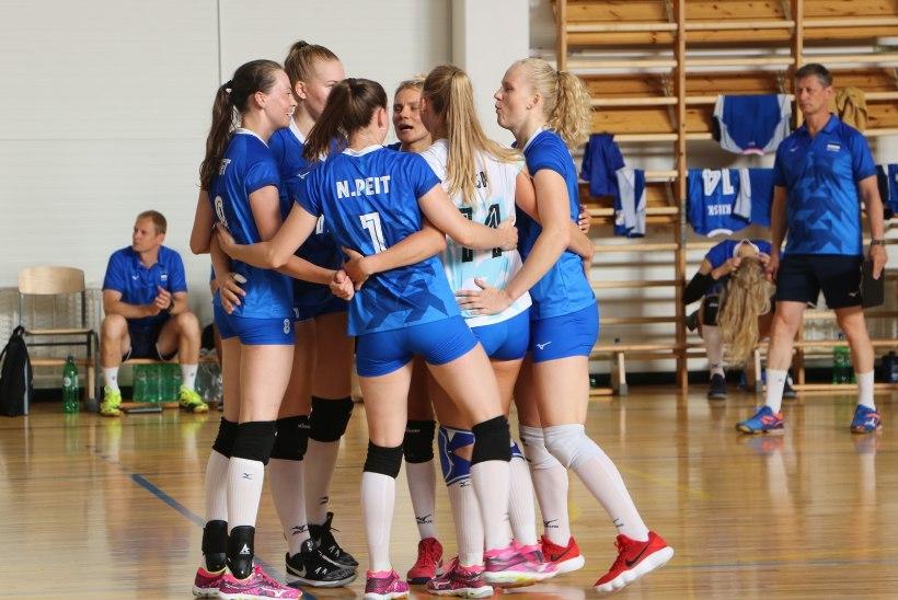 Eesti võrkpallinaised jätkasid meeste eeskujul