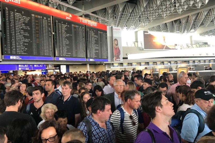 Frankfurdi lennujaamast evakueeriti sadu inimesi: lennuliiklus taastub järk-järgult