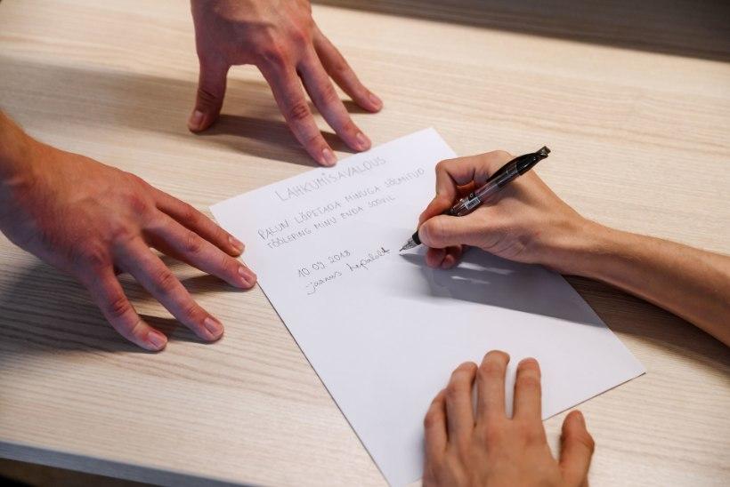 KIUS TÖÖKOHAL: kes ei kirjuta avaldust vabatahtlikult, see sunnitakse lahkuma
