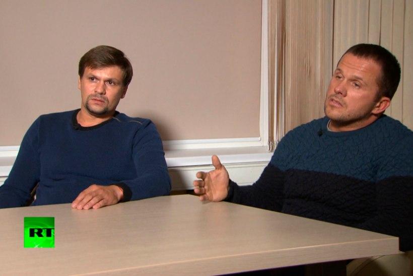 VIDEO | Skripalide mürgitamises kahtlustatavad Boširov ja Petrov: käisime Salisburys turistidena
