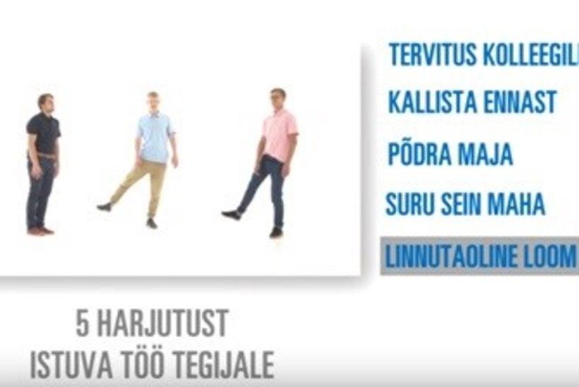 VIDEO | Milliseid harjutusi soovitavad istuva tööga inimestele Eesti näitlejad?