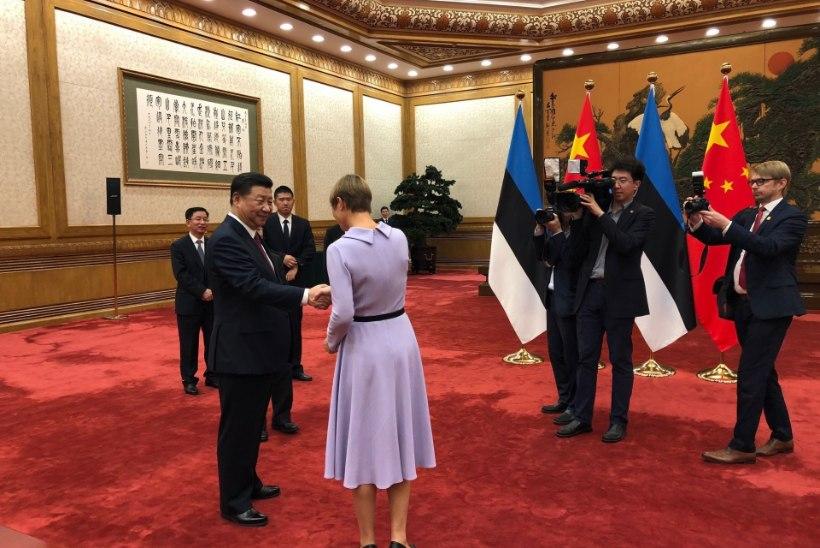 FOTOD | President Kaljulaid kohtus Pekingis Hiina riigipea Xi-ga