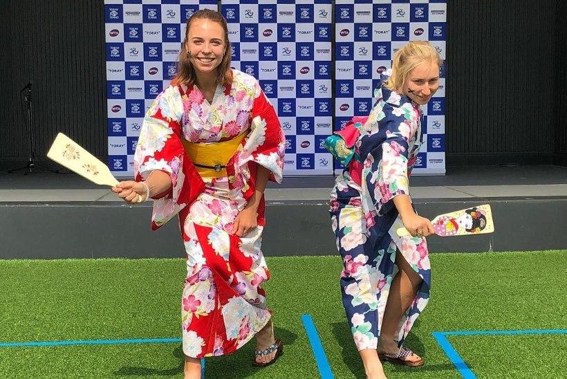 FOTOUUDIS | Tokyos viibiv Anett Kontaveit pani end proovile iidsel spordialal