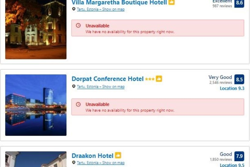 KIIRE VÄRK: Metallica kontserdi ajaks on Tartu kõik hotellitoad juba ära broneeritud