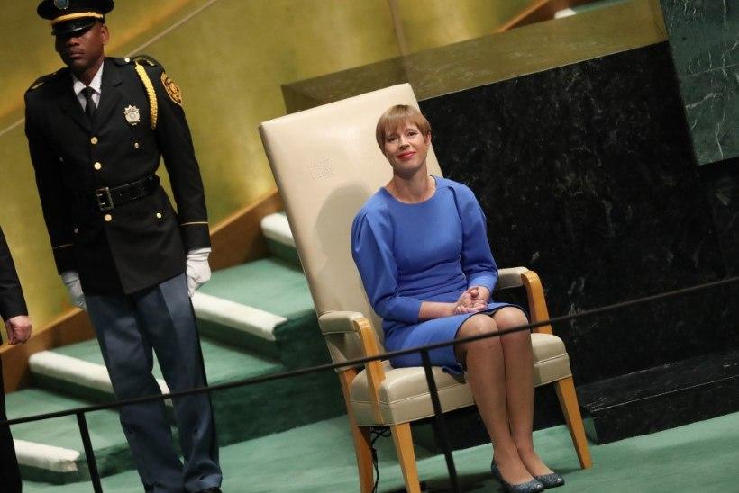 Kaljulaid teatas ÜROs, et temast saab laste ja naiste heaoluga tegeleva liikumise juht