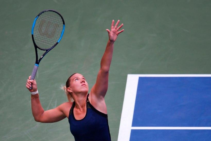 NII SEE JUHTUS   Kaia Kanepi ja Serena Williams pidasid uskumatu lahingu