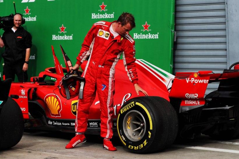 Kimi Räikkönen vallandati nädalavahetusel Monzas?