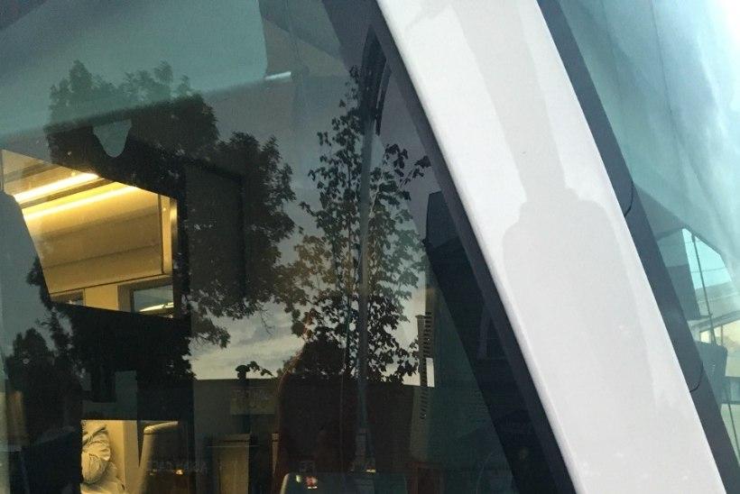 FOTOD   Kodutud loopisid Balti jaamas pudeliga trammi