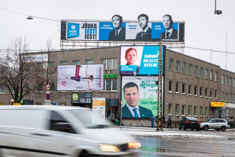 GRAAFIK | SUUR RAHAKÜLV: milliseid Eesti erakondi eelistavad lahked annetajad