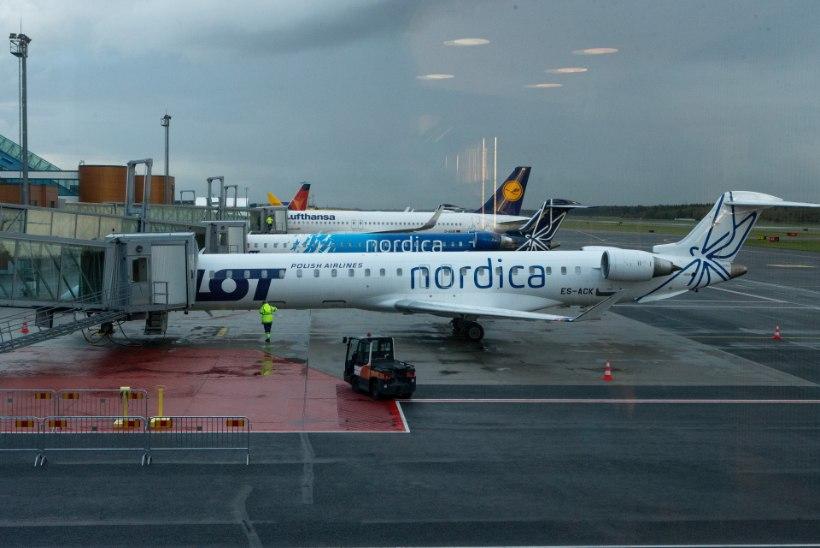 Varssavisse suunduma pidanud Nordica lennukisse tuli enne startimist suitsu